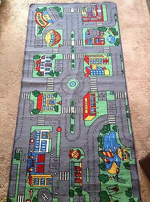 Large Children's Road Town Car Play Mat Rug