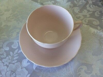 TUSCAN - PALE PINK - Fine Bone China Tea Cup & Saucer