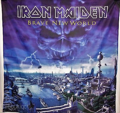 IRON MAIDEN Brave New World HUGE 4X4 BANNER poster tapestry cd album cover