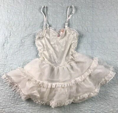 VINTAGE Allison Ann Girl's Petticoat Layered Slip Lace Girls Size 6