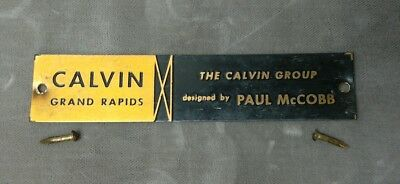 Vintage Calvin Group Designed by Paul McCobb Small Nameplate Plaque