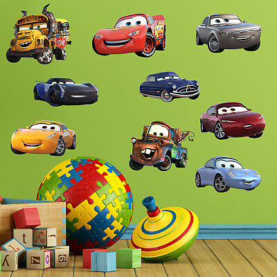 Cars 3 Wall Stickers Decal Home Decor Kids Bed Room Vinyl Art Mural Xmas Gift
