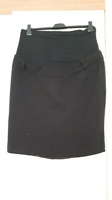 Mamas and papas size 12 maternity skirt. black. over the bump.