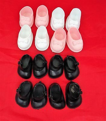 Cinderella Doll Shoes 4 Pairs for Small Dolls, Sizes 04 & 05