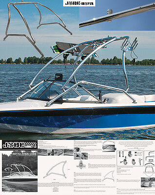Tour de wake/ski / Wakeboard Addict 1.3 Polished - Jobe 2018 - bateaux-wakeboard