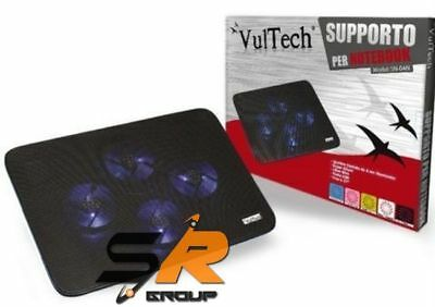 "Supporto Ventola Raffreddamento Pc Portatile Notebook Da 10"" A 17"" Vultech Sn-04"