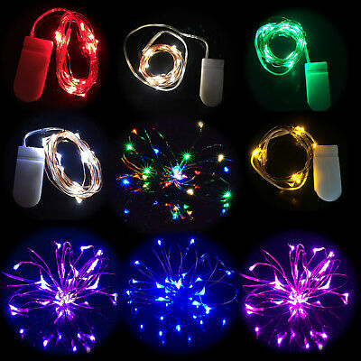 20 Small Micro LED Xmas Fairy Lights Copper Wire Button Battery Wedding Bedroom