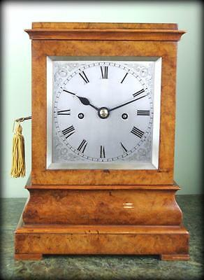 Fine English 5 Glass Striking Fusee Mantle Bracket Library Clock
