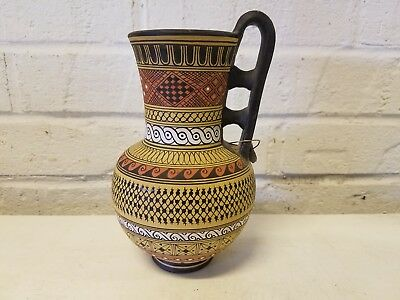 "Greek Geometrical Vase 6"" Handmade Hand Painted Museum Copy"