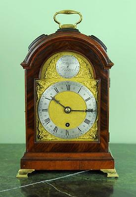 Miniature Triple Pad Top Bracket Clock