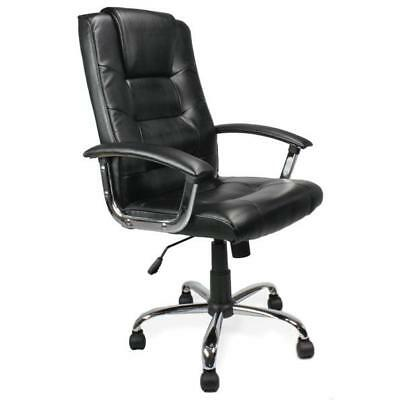WESTMINSTER • High Back Leather Faced Executive Armchair with Chrome Base