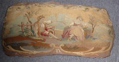 ANTIQUE FRENCH TAPESTRY ON PILLOW - PERFECT CONDITION - EARLY 1800s