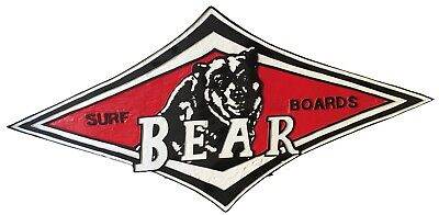 Insegna pubblicitaria Bear Surfboards anni 80/Bear Surfboards advertising sign