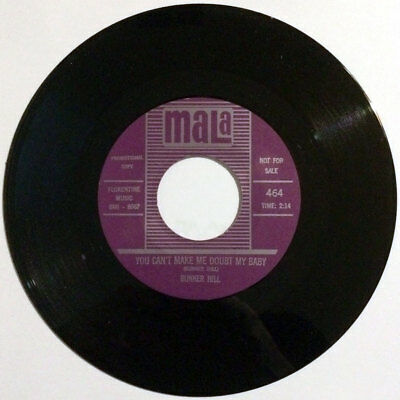 """Bunker Hill - You Can't Make Me Doubt My Baby /  The Girl Can't Dance 7"""" R&B RE"""