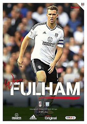 Fulham V Preston North End - Championship-Official Programme-14Th October 2017