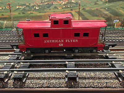 American Flyer Train #638 Red Caboose w/link couplers Estate Sale