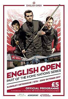 English Open Snooker 2017- 16Th To 22Nd October 2017