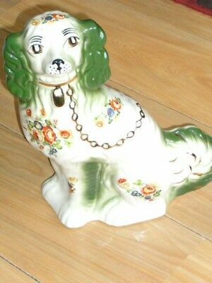 Large Staffordshire Style Ceramic Dog/spaniel 13 Inches High