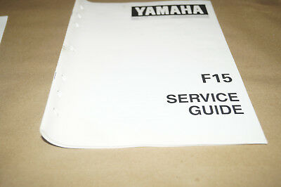 Yamaha Outboards F15 Service Guide Manual PN 90894-62940-92