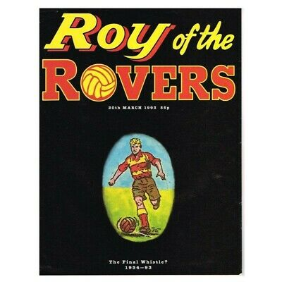 Roy of the Rovers Comic March 20 1993 MBox2797 The Final Whistle? Last Issue Nea