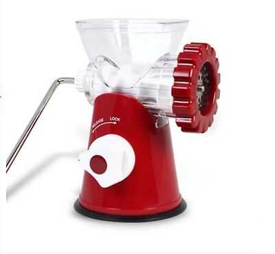 Red Small Manual Multi-function Stainless Steel Blade Meat Grinder Home Mincer &