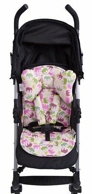 Baby Elephant Ears 3 Piece Stroller Set ~ Seat Liner, Support Pillow & Strap Cov