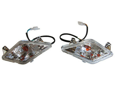 Left/Right Pair Turn Signal Tail Light GY6 Scooter Moped 2 Wire Chinese