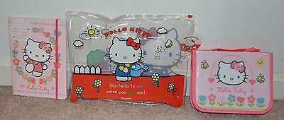 Official Hello Kitty Transparent Ziplock Wallet Activity Book Filled Pencil Case