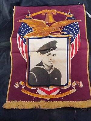 WWII Son in Service Printed portrait flag