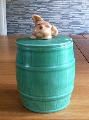 Vintage Sylvac Green Jam Marmalade Honey Lidded Pot With Dogs Head No 1849 XCon
