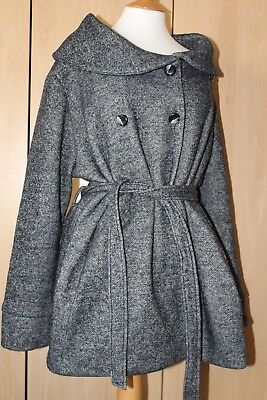 ~NEW LOOK~Gorgeous Grey Soft Cosy Winter MATERNITY Coat~Size 18~Good Cond