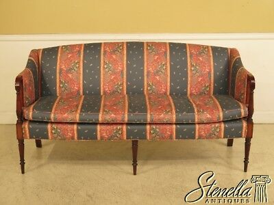 41526: KITTINGER Sheraton Inlaid Mahogany Sofa