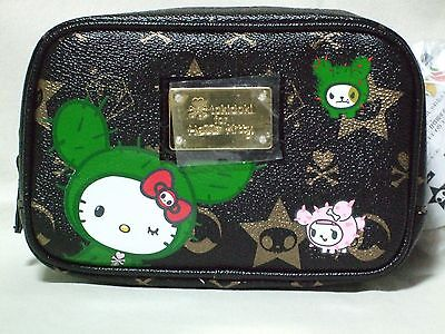 TOKIDOKI x Hello Kitty Sandy Black Pouch Bag with mirror Sanrio 2008 Rare NWT