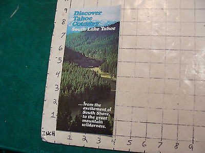 Vintage High Grade Brochure: discover TAHOE COUNTRY 70's w Sammy Davis photo