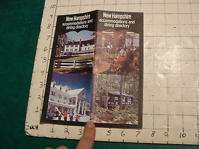 Vintage High Grade Brochure: NH ACCOMMODATIONS & DINING; 1971; 38pgs