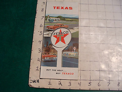 vintage HIGH GRADE travel paper: TEXAS  highway map 1960