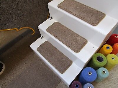 15 Handmade brown fleck stair pads treads 50cm x 20cm + mat stain resistant