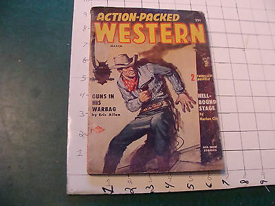vintage magazine - Action-Packed WESTERN march 1957
