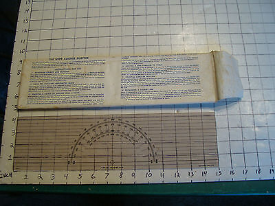 1971 THE USPS COURSE PLOTTER in instruction paper sleeve