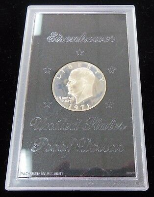"1971-s Proof Silver Clad Brown Ike Eisenhower Dollar "" No Box """