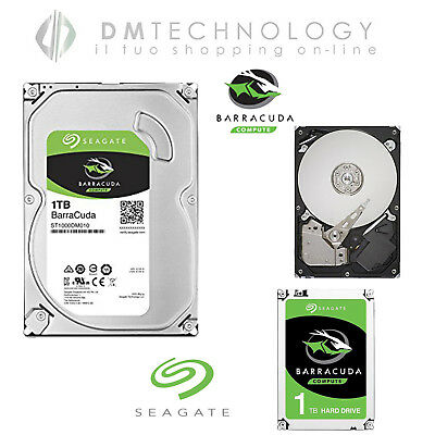 Hard-Disk Interno 3.5 Seagate 1Tb St1000Dm010 Barracuda Sata Iii 7200Rpm 64Mb