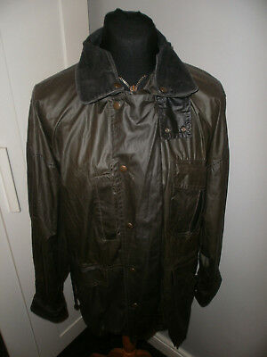 Vtg Mizen Head Olive Green Waxed Jacket & Liner Made In Ireland Size M~Fishing