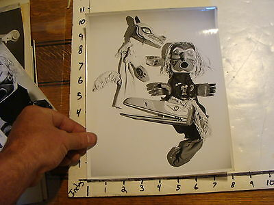 Vintage MARIONETTE PHOTO, abstract: NATIVE PUPPETS, probably Berkley puppets