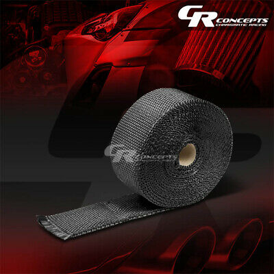 "Black 2/""x 1//16x 7.5M//295/"" Race Exhaust Header Turbo Manifold Downpipe Heat Wrap"