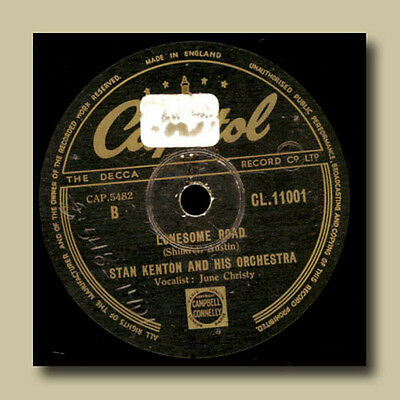JUNE CHRISTY & STAN KENTON m.s. ORCH. Lonesome road / Trajectories  -78rpm- G240