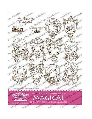 MAGICAL KIT-The Greeting Farm Cling Rubber Stamp-Stamping Craft-Bean-RETIRED