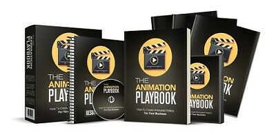 Animation Playbook - 15 Videos & PDF on cd Step By Step Create Animated Videos