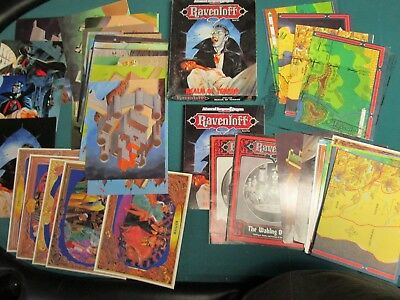 Ravenloft Lot  Realm of Terror Box set complete 1053 plus xtra cards, maps, book