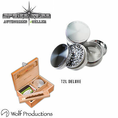 Space Case 4 Piece Aluminium Grinder All Sizes & Wolf Production T2 Deluxe Large