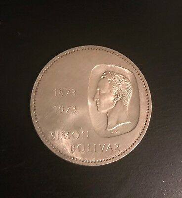 COLLECTION COIN silver  1973-1973 Simón Bolívar law 900 COMMEMORATIVE CURRENCY